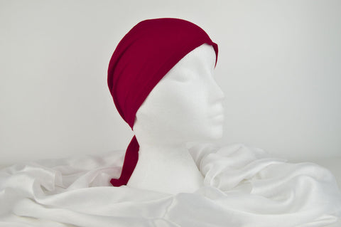Plain Cotton Bonnet Cap