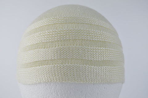 Wool Effect Mens Hat in Cream
