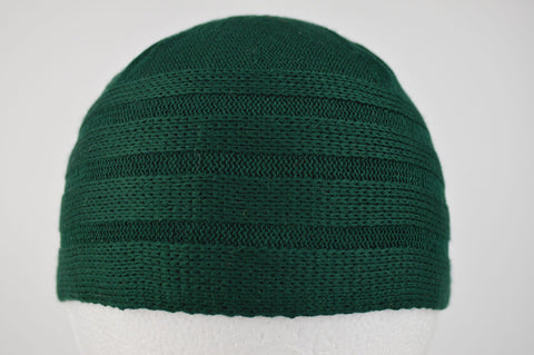 Wool Effect Mens Hat in Forest Green