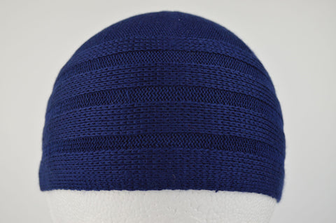 Wool Effect Mens Hat in Navy