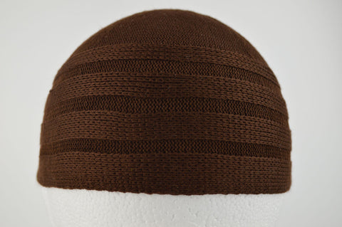 Wool Effect Mens Hat in Dark Brown