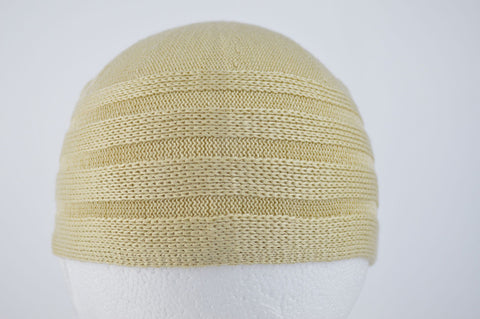 Wool Effect Mens Hat in Beige