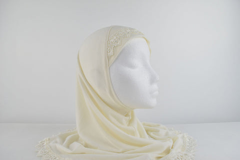 Al-Amira Childrens Plain Hijabs with Lace