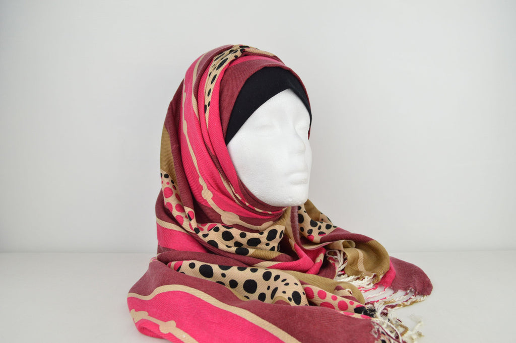 Evening hijabs Maroon