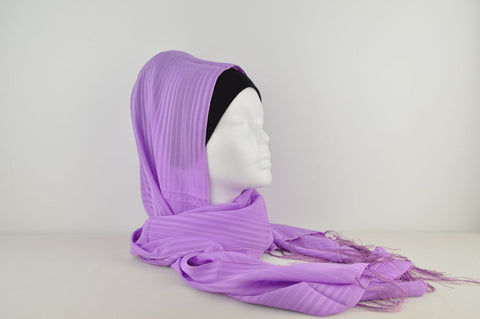 Plain Stripey Hijab