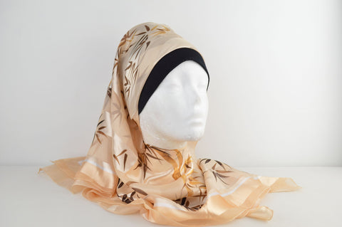 Square Printed Abstract Hijab