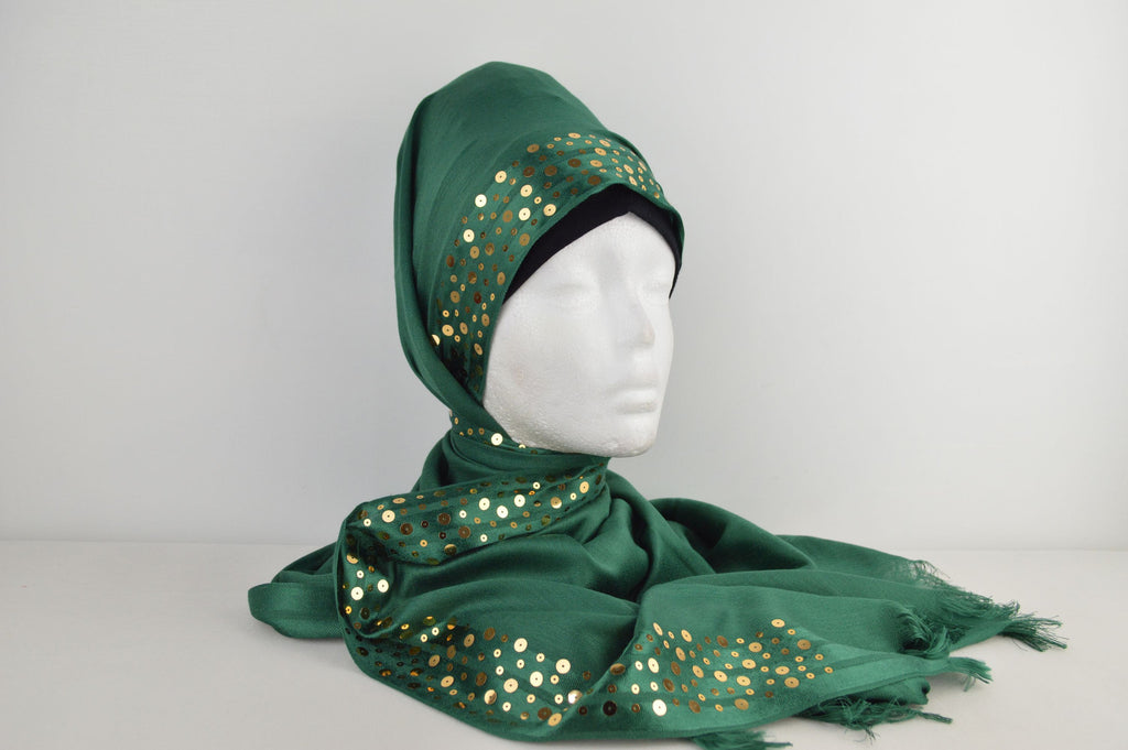Fancy Sequinned Edge Hijab
