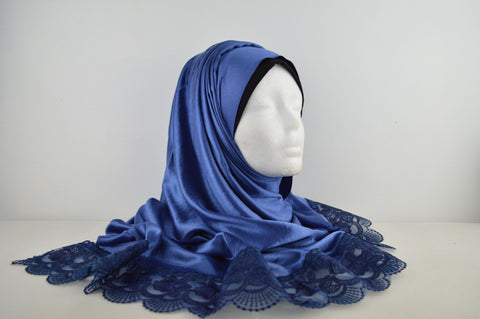 Lace Edged Silky Smooth Hijab