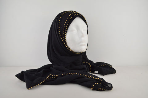 Gold Beaded Soft Feel Hijab