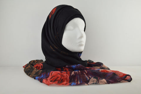 Soft Feel Rose Pattern Hijab