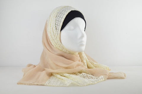 Plain Netted Hijab