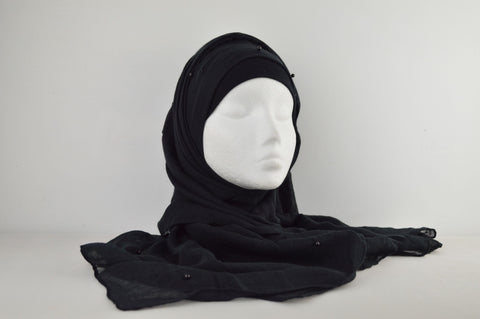 Plain with Matching Faux Pearl Hijab