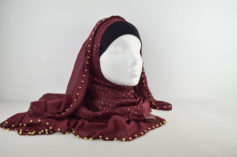 Plain with Beaded Edge Hijab