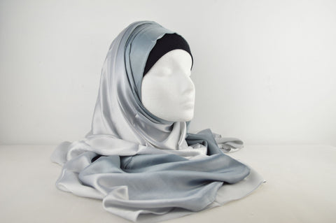 Plain Two Tone Pure Silk Hijab