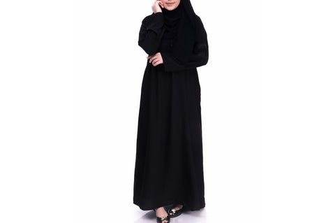 Soft Touch Plain Black Abaya