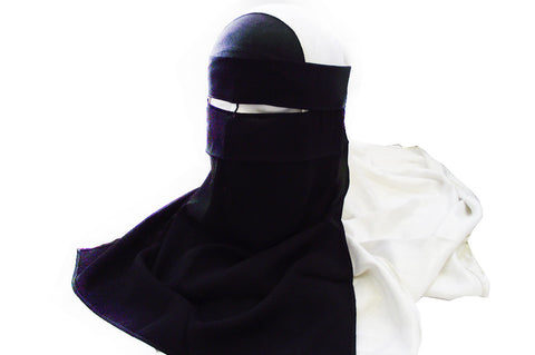 High Quality Tie-Back Single Niqab