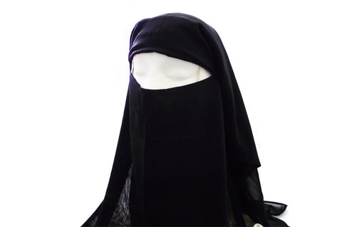 Triple Layer Niqab with Dual Fastening