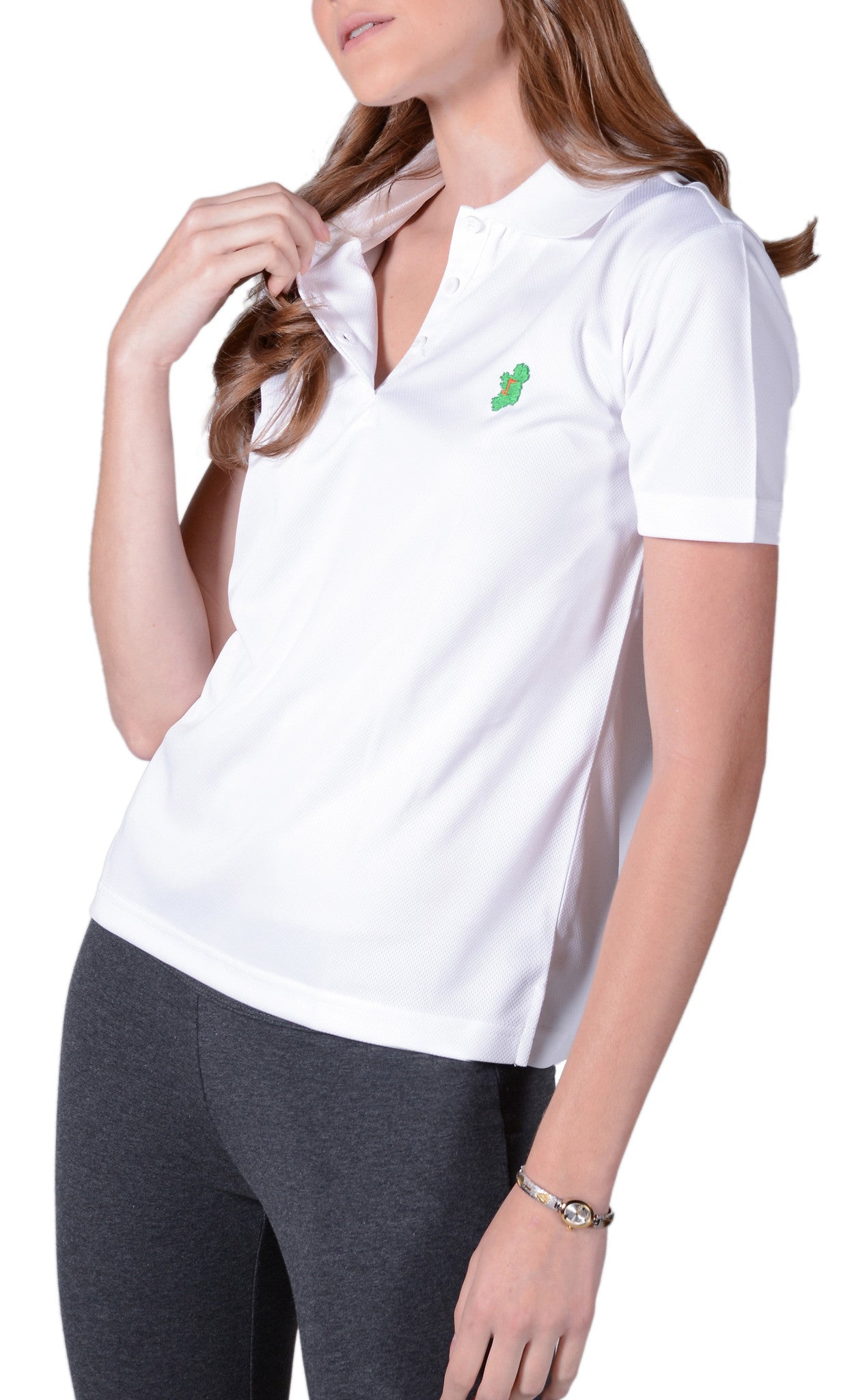 Ladies White Irish Shirts - Polo by Ireland Shirt
