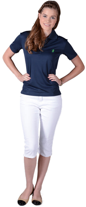Ladies Navy Blue Irish Shirts - Polo by Ireland Shirt1