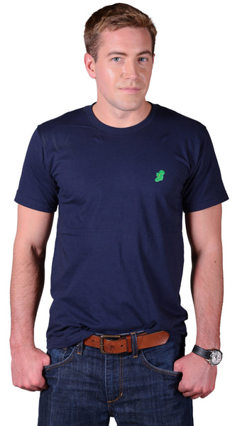 Men's Navy Blue Slim Fit Irish T Shirt by Ireland Shirt-1