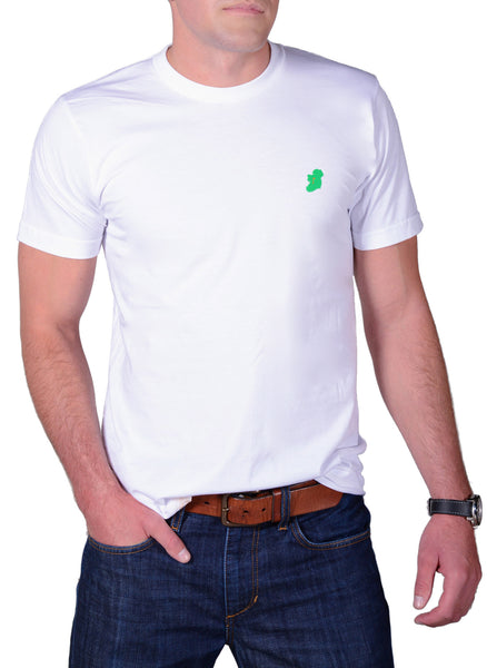 Men's White Short Sleeve Irish T Shirt by Ireland Shirt-1
