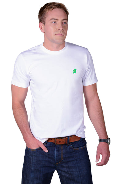 Men's White Short Sleeve Irish T Shirt by Ireland Shirt