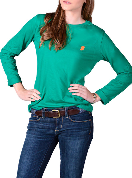 Kelly Green Long Sleeve Irish T Shirt by Ireland Shirt