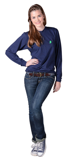 Irish T Shirts - Long Sleeve - Navy Blue - by Ireland Shirt