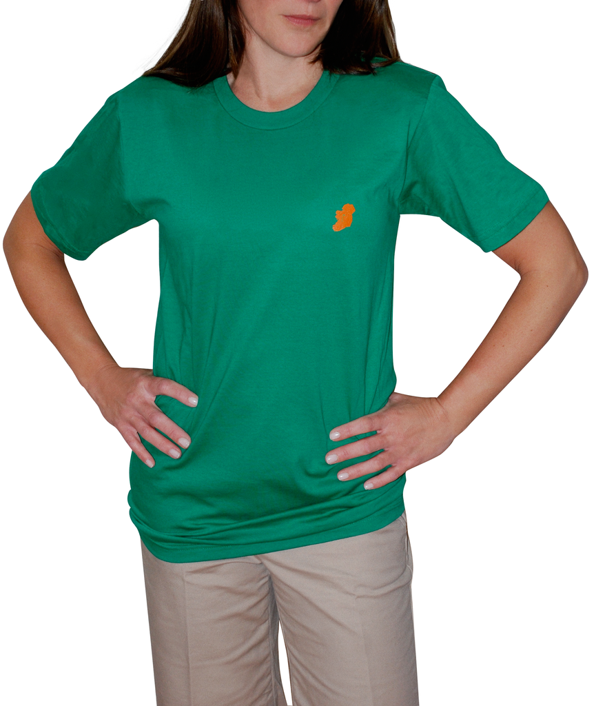 Ladies Kelly Green Short Sleeve Irish T Shirt by Ireland Shirt