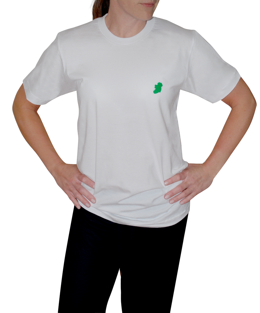 Ladies White Irish T Shirt by Ireland Shirt