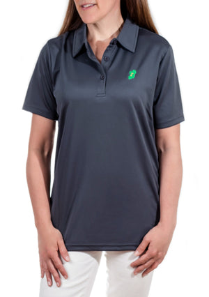Ireland Shirt® - Ladies Metal Grey Irish Polo