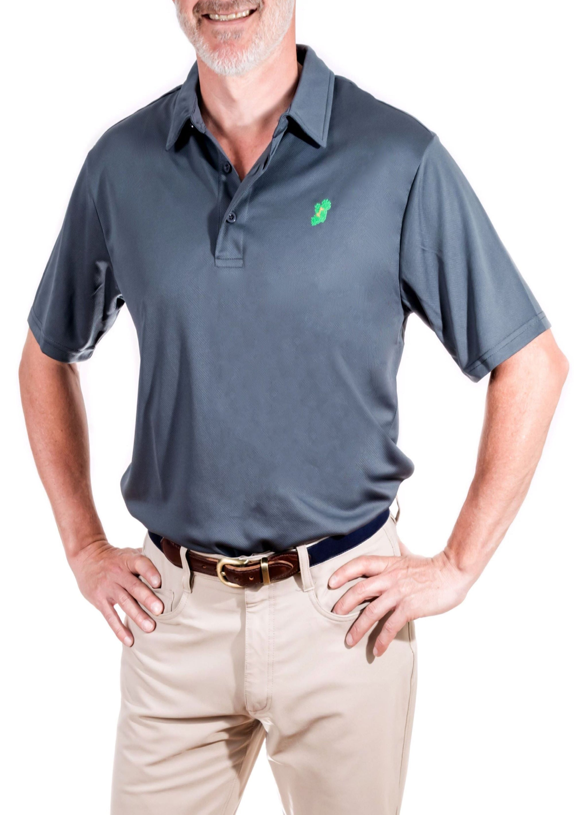 Ireland Shirt® - Metal Grey Irish Polo