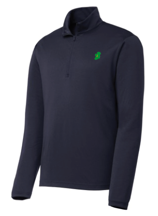 The Ireland Ladies 1/4 Zip Pullover® - Navy