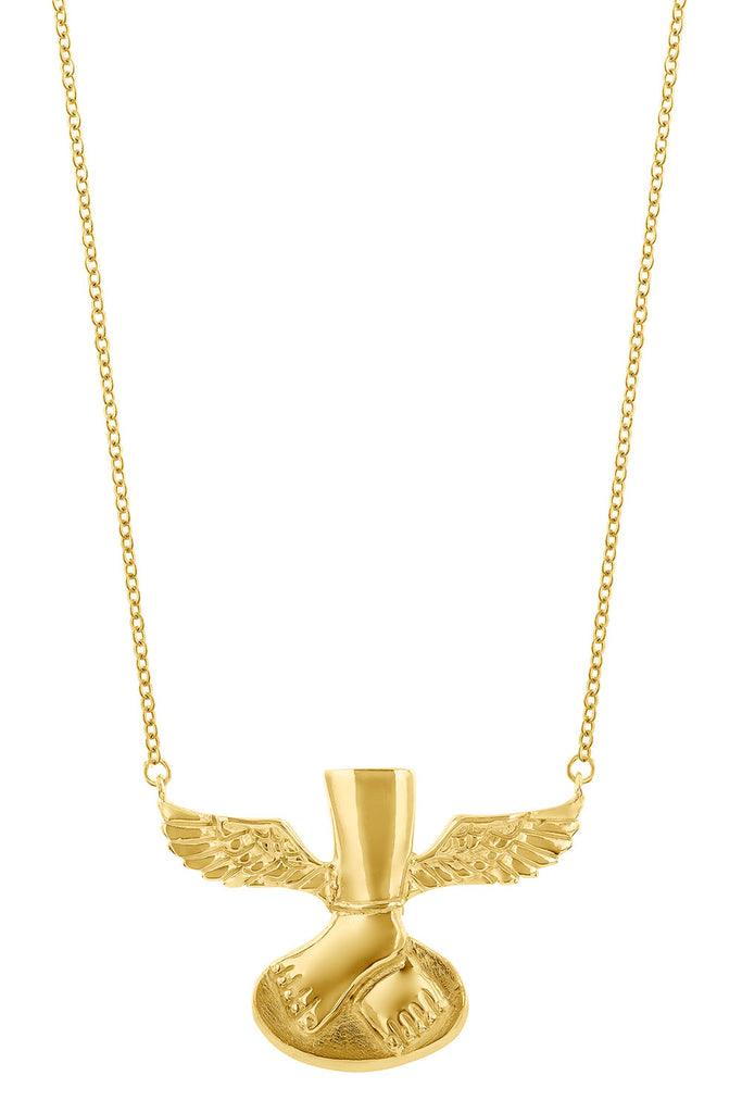 Necklace Winged Feet Grande - Sophie Simone Designs