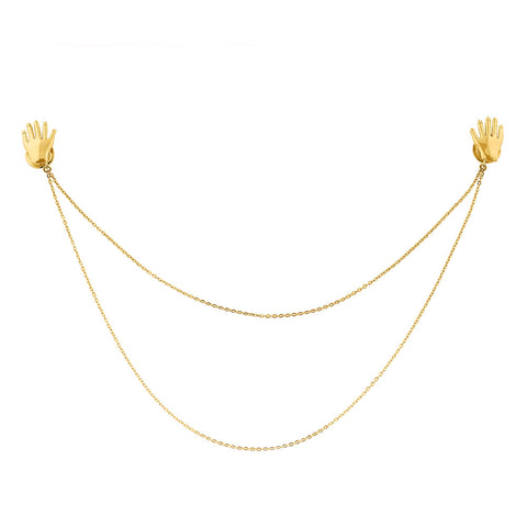 Pin with chain Manos