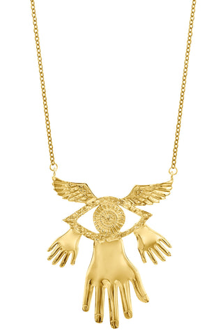 Necklace Hands Wings Eye