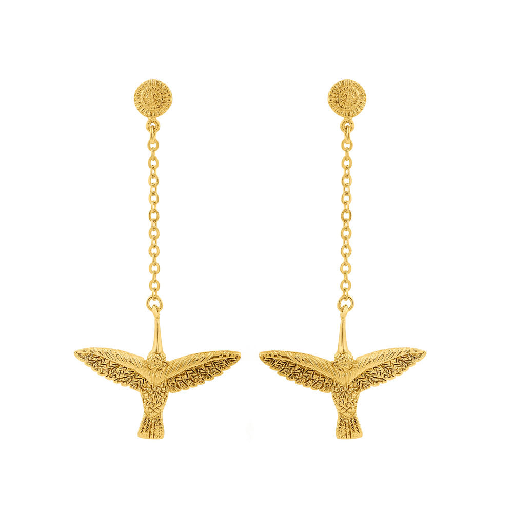 Earrings with Chain Huitzilin - Sophie Simone Designs
