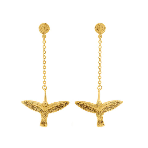 Earrings with Chain HUITZILIN