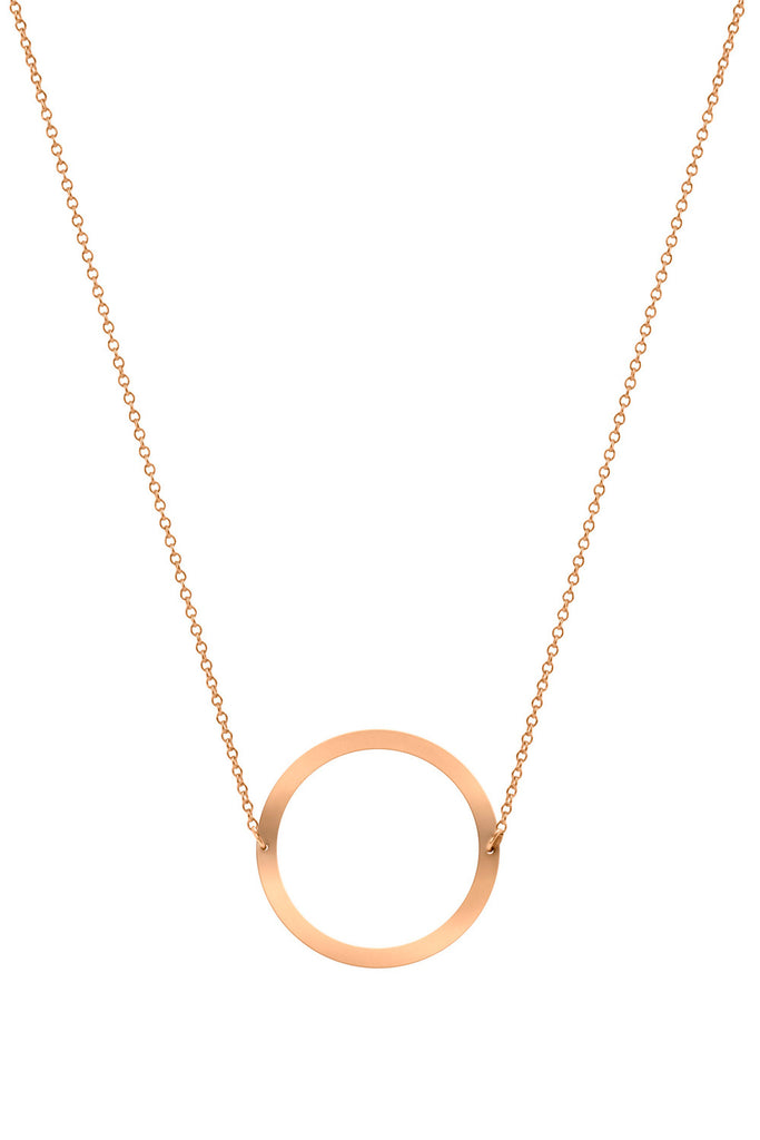 Necklace Circle 14K Pink Gold - Sophie Simone Designs