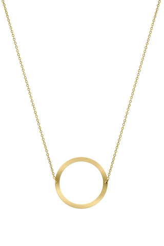 18K Gold Circle Necklace