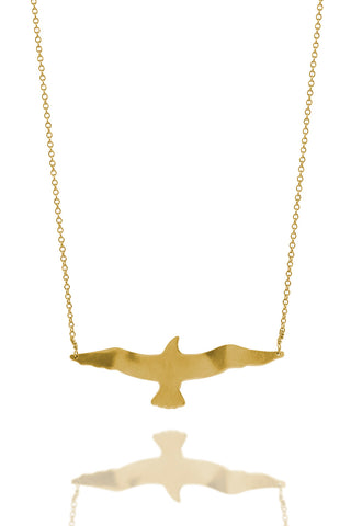 Gold Dipped Seagull Necklace