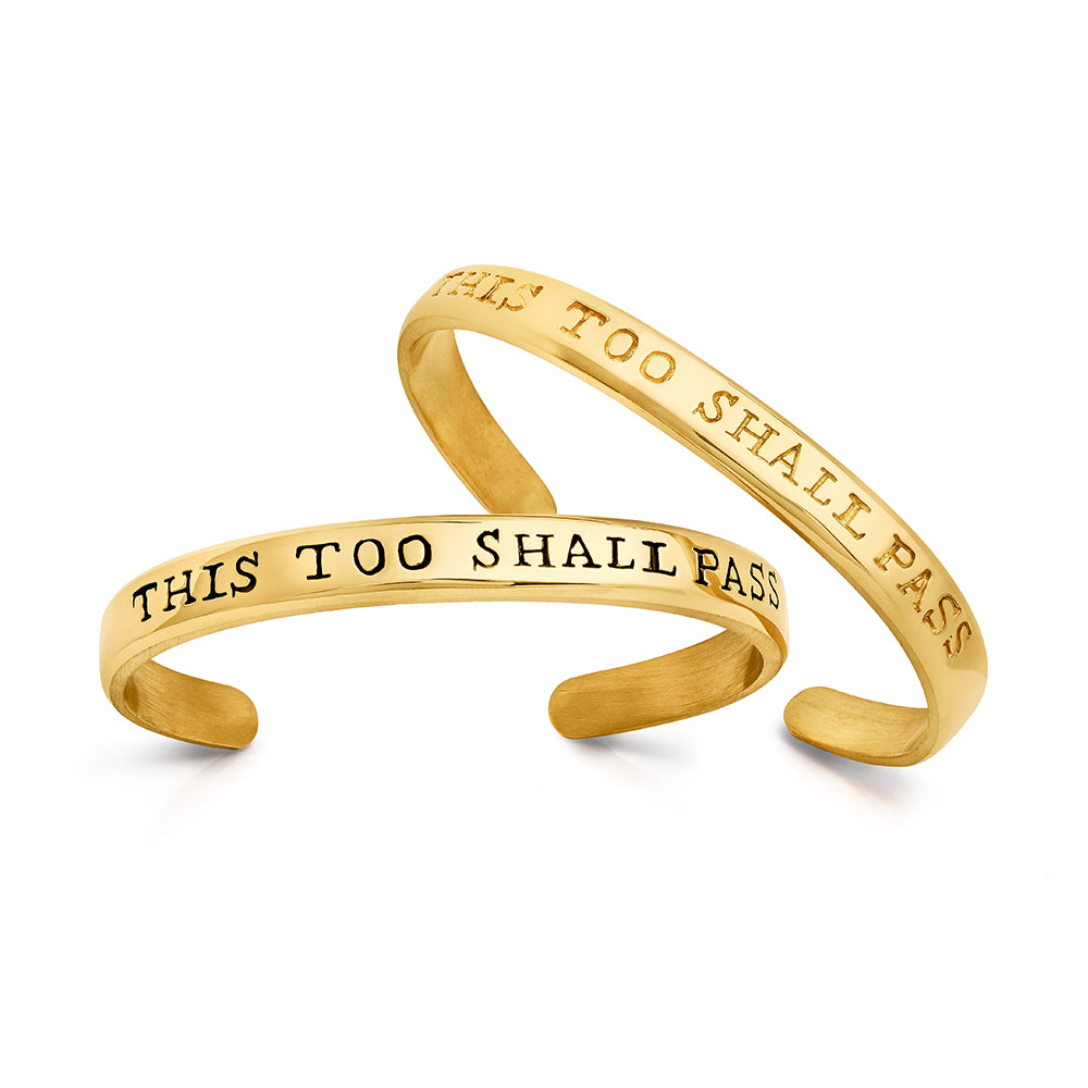 Bracelet This Too Shall Pass for Him - Sophie Simone Designs
