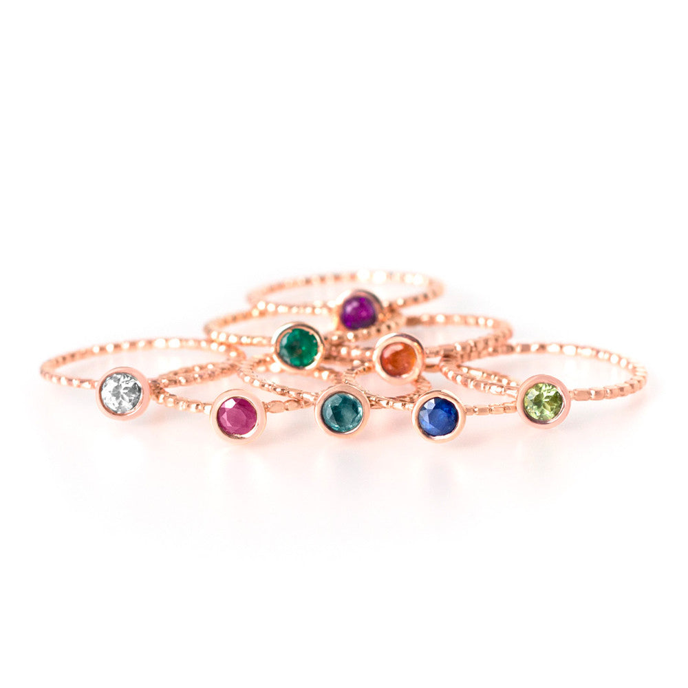 Rings IT Pink Gold with Precious Stones - Sophie Simone Designs