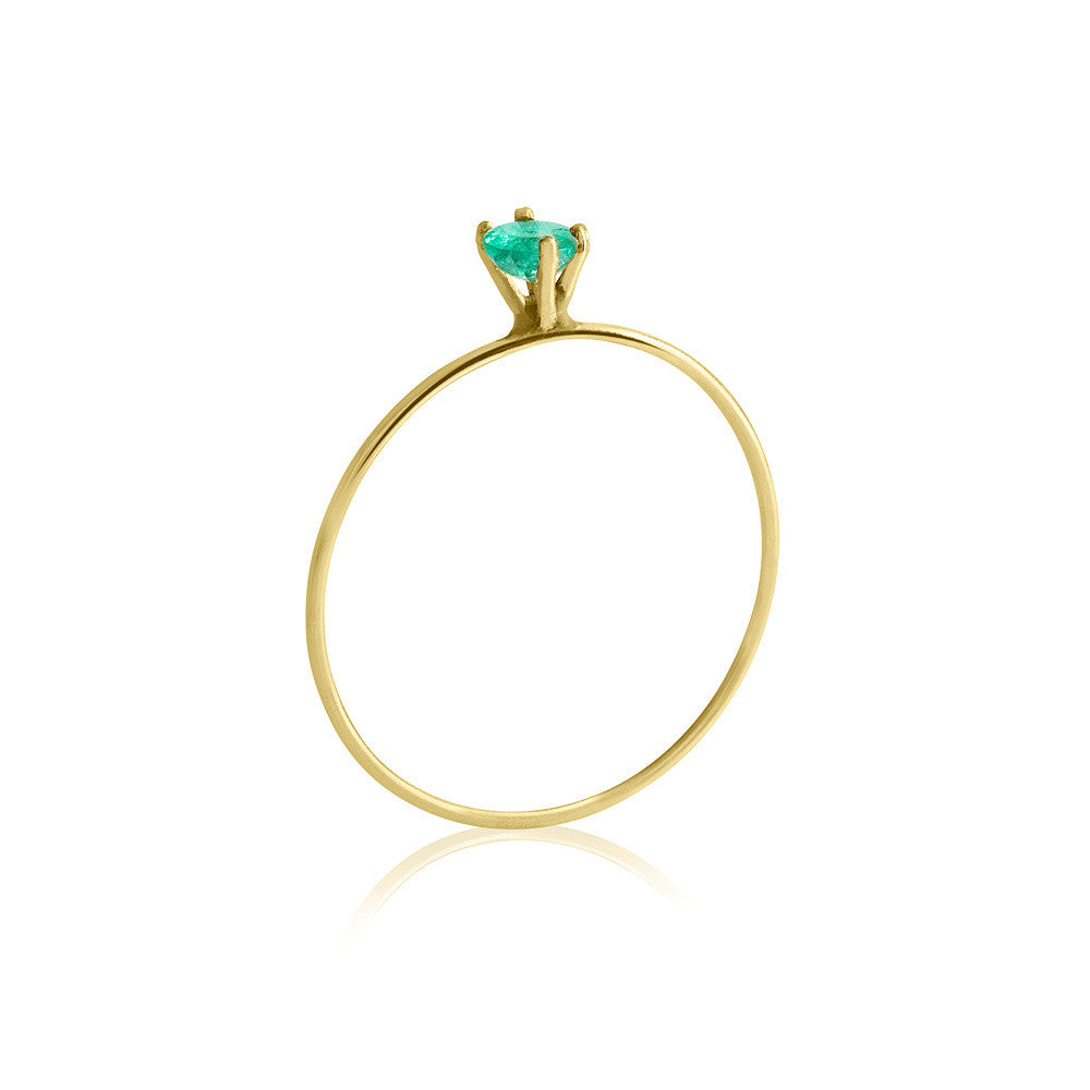 14K Gold Michou Ring w/ Precious Stones