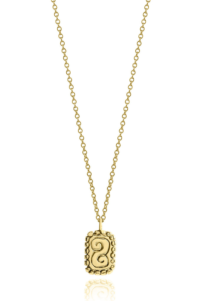 Necklace Gold - The Sky and the Clouds Mayan Symbol - Sophie Simone Designs