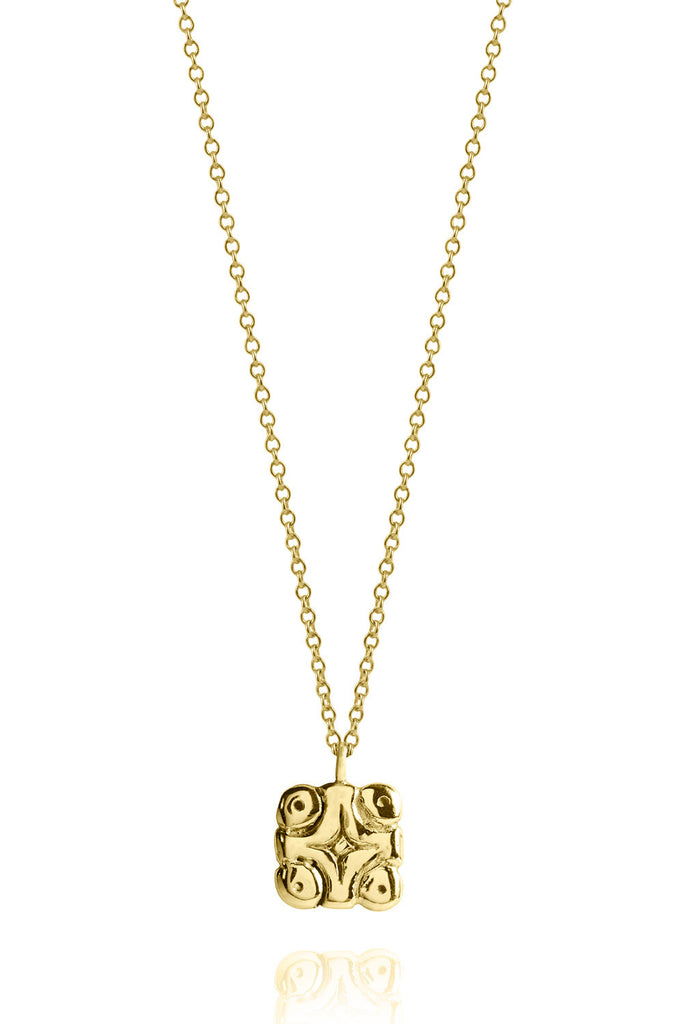 14K Gold / The Universe and the Stars Mayan Symbol Necklace