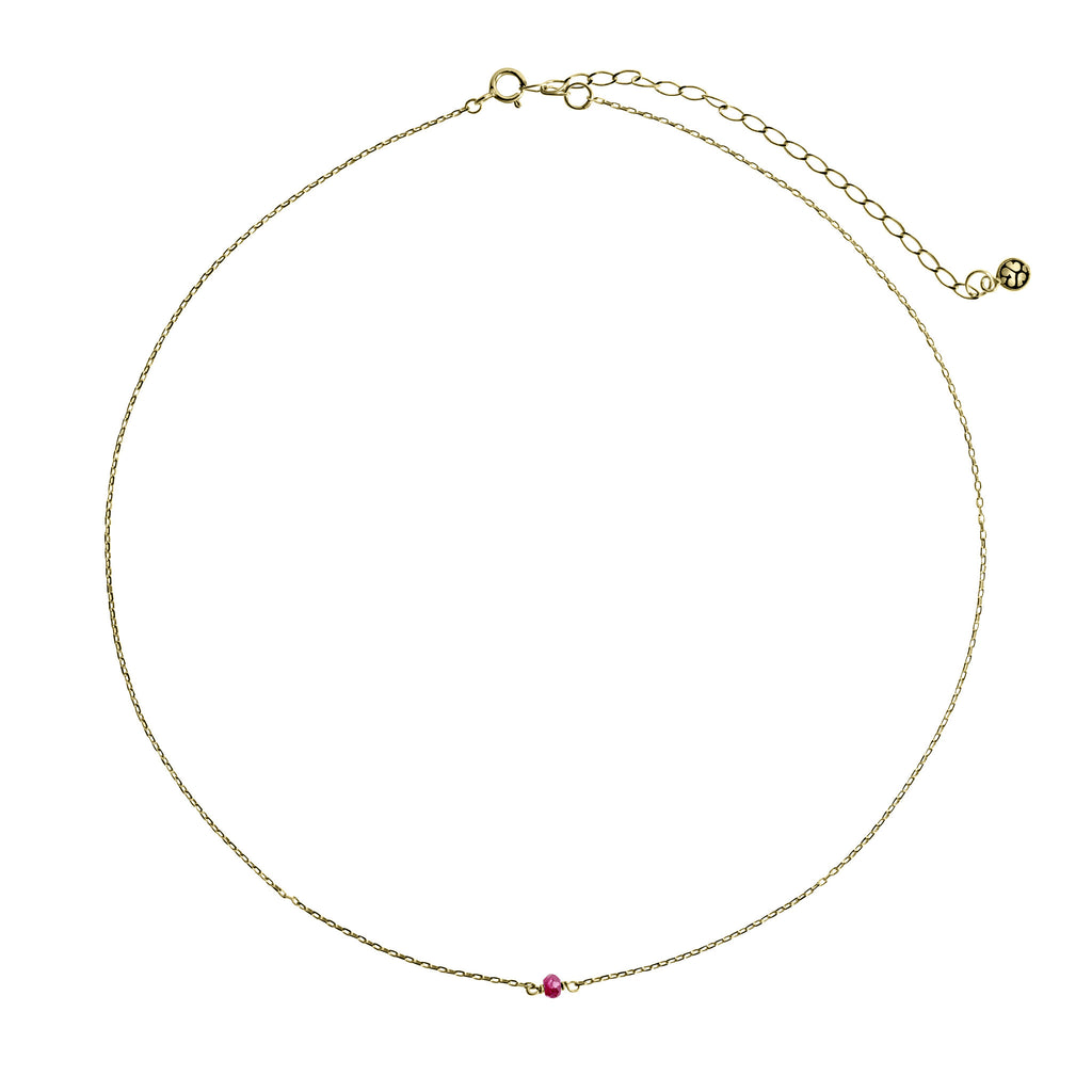 14K Gold Choker with Ruby