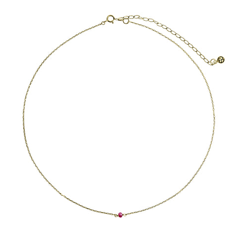 Choker Gold with Ruby