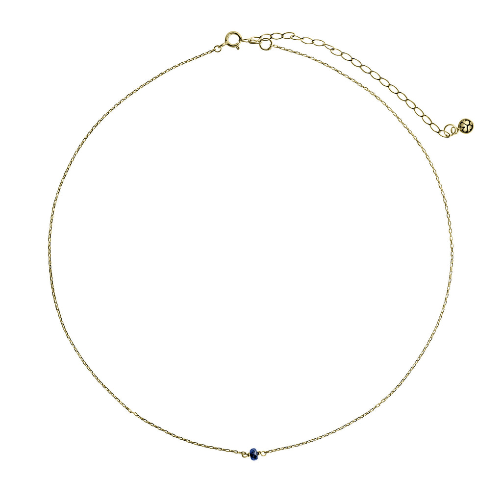 14K Gold choker with Sapphire