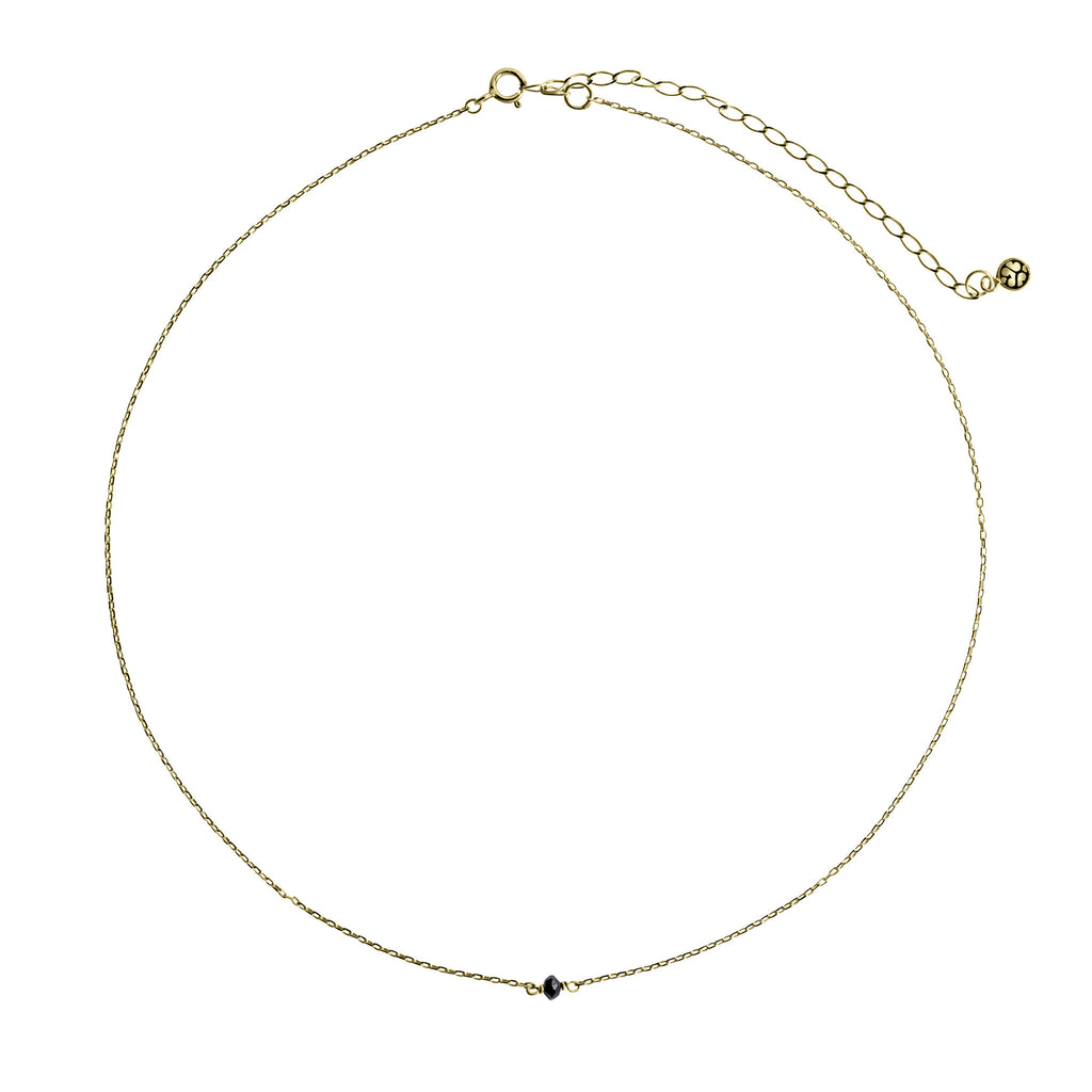 14K Gold choker with back diamond